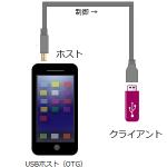 USBホスト(OTG)機能対応のandroidスマートフォン